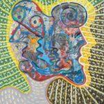 Alain Rothstein, L'homme de Tchernobyl, 1986, huile sur toile, 100x81cm