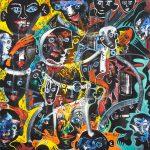 Alain Rothstein LA CANTATRICE CHANTAIT FAUX, 2013, huile sur toile, 60x60cm : 5'000 euros