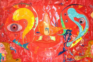 Alain Rothstein LA PITTURA È COSA MENTALE, 2008, huile sur toile, 130x195cm : 22'000 euros.