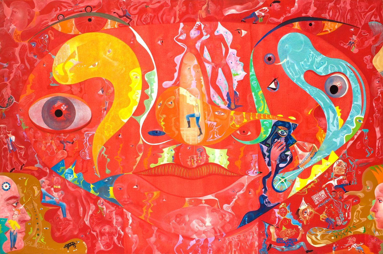 Alain Rothstein LA PITTURA È COSA MENTALE, 2008, huile sur toile, 130x195cm