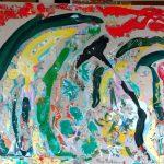Alain Rothstein LA TENTATION DE SAINT-ANTOINE, 2015, huile sur toile, 81×100 cm : 13'000 euros.