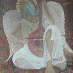 Alain Rothstein l'Ange au gondolo, 2014, huile sur toile, 100x80cm