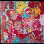 Alain Rothstein L'ESCAMOTEUR, 2014, huile sur toile, 40x40 cm