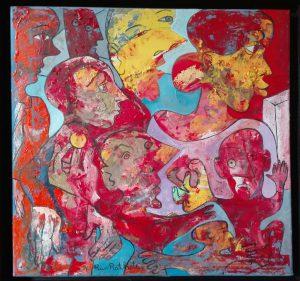 Alain Rothstein L'ESCAMOTEUR, 2014, huile sur toile, 40x40 cm : 4'000 euros.