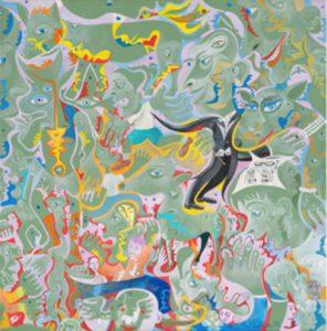 Alain Rothstein MAESTRO - CHEF D'ORCHESTRE, 2012, huile sur toile, 40x40cm : 4'000 euros.