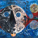 Alain Rothstein Multivers, 2014, huile sur toile, 220x400cm : 40'000 euros HT.