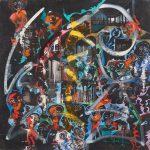 Alain Rothstein MYSTÈRE DU SALON NOIR, 2013, huile sur toile, 60x60 cm : 5'000 euros