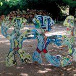 Alain Rothstein PARAVENT technique mixte sur bois sur bois, hauteur 120cm
