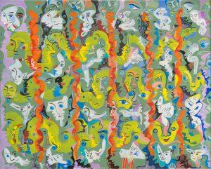 Alain Rothstein PARC AUX CERFS, 2012, huile sur toile, 33x41cm : 3'800 euros.