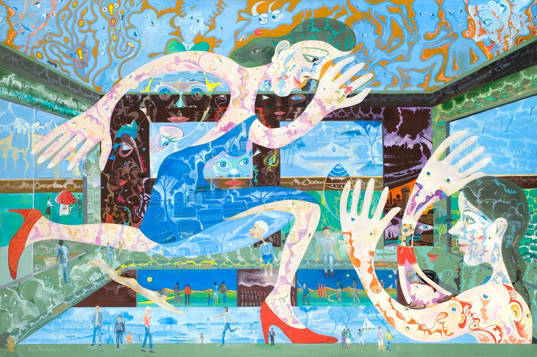Alain Rothstein PISCINE LE BAIN, 2013, huile sur toile, 130x195cm