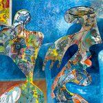 Alain Rothstein ROMÉO ET JULIETTE, 2013, huile sur toile, 220x300cm