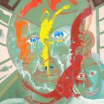 Alain Rothstein SAMOURAI, 2013, huile sur toile, 65x55cm