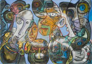 Alain Rothstein Sans titre A, huile sur toile, 81x117cm : 10'000 euros HT.