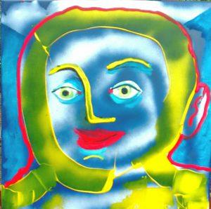 Alain Rothstein Skoll, Technique mixte sur toile, 2016, 45 x 45cm : 5'000 euros.