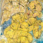 Alain Rothstein Sourire de l'Ange, huile sur toile, 147x96cm