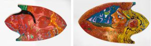 Alain Rothstein UN JEU DENT FAON, 2007, huile sur bois, 80x151cm : 18'000 euros.