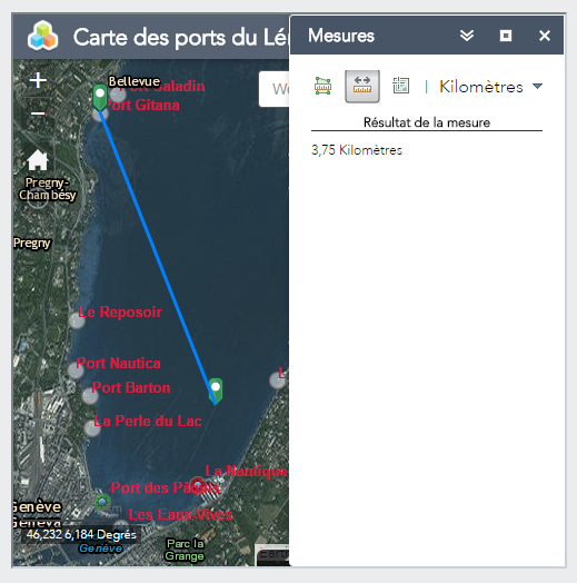 Groupe simon gen ve carte des ports et des vents dominants for Se geolocaliser