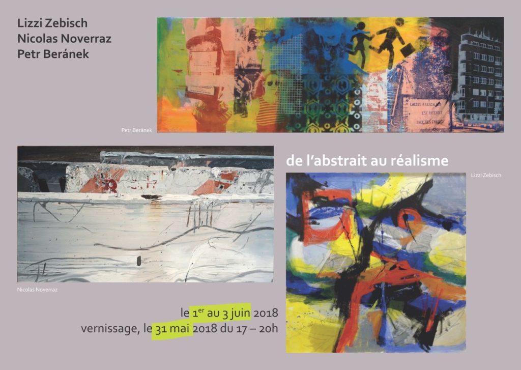 De l'abstrait au réalisme : Lizzi Zebisch - Nicolas Noverraz - Petr Beránek