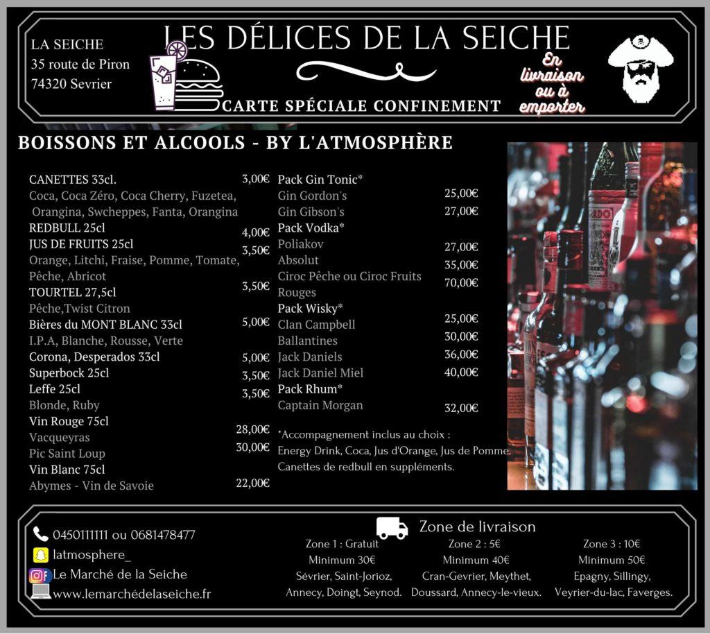 Livraison boissons et emporter confinement automne - La Seiche - Sevrier - Annecy - Saint-Jorioz -Faverges