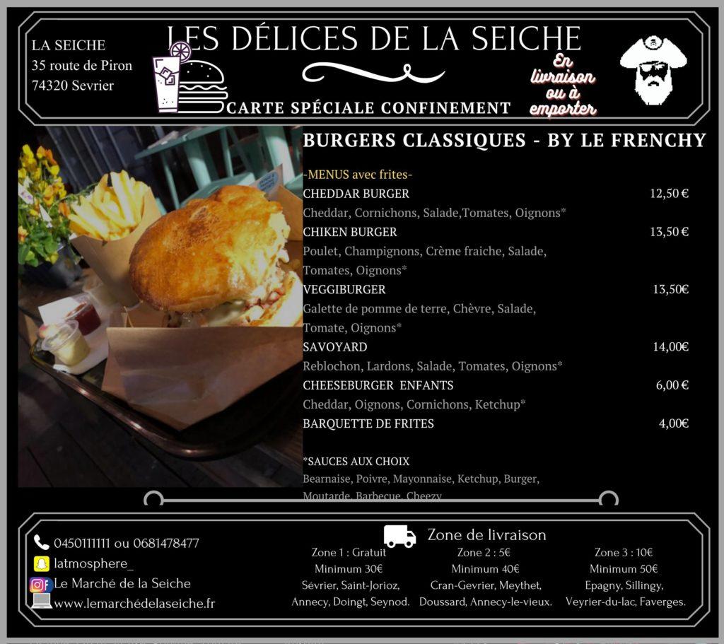 Livraison burgers et emporter confinement automne - La Seiche - Sevrier - Annecy - Saint-Jorioz -Faverges