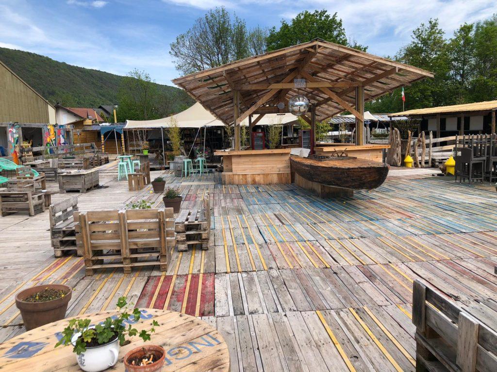 Récup et recycling - bar du marché de la seiche - Sevrier - Lac d'Annecy